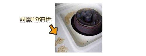 油漬的爐具,輕輕一刷…或是稍用力一點刷都可以乾乾淨淨!